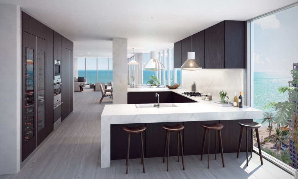 Auberge Beach AS Kitchen