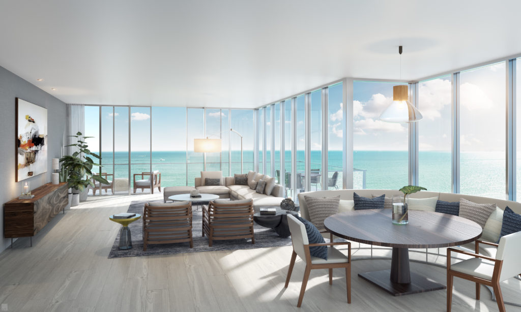 Auberge Beach South Living Dining Room 01