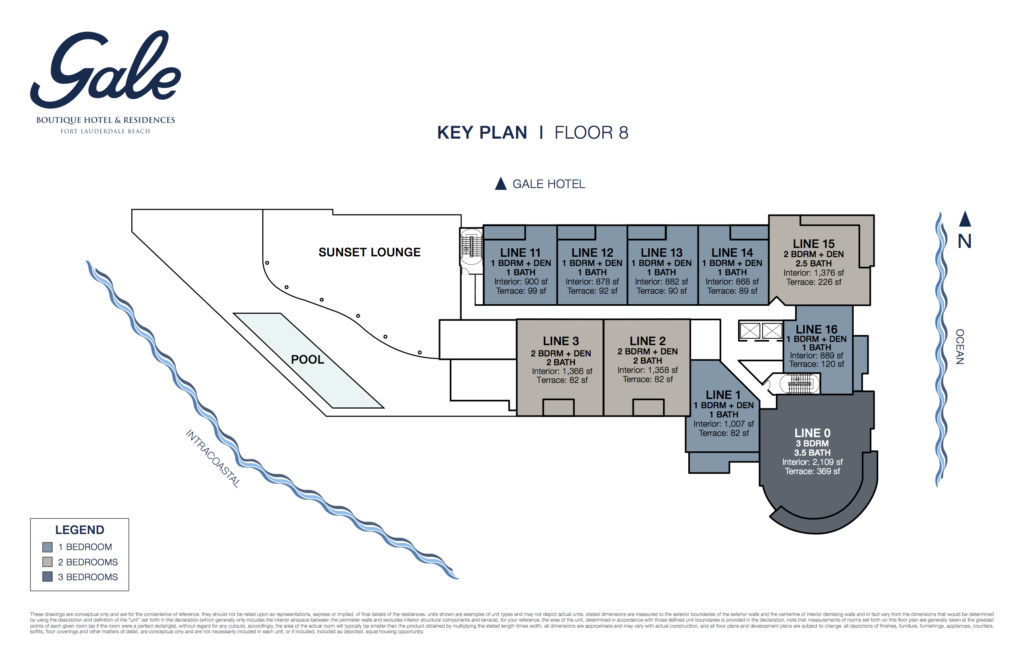 Gale Fort Lauderdale Key Plan Floor 8