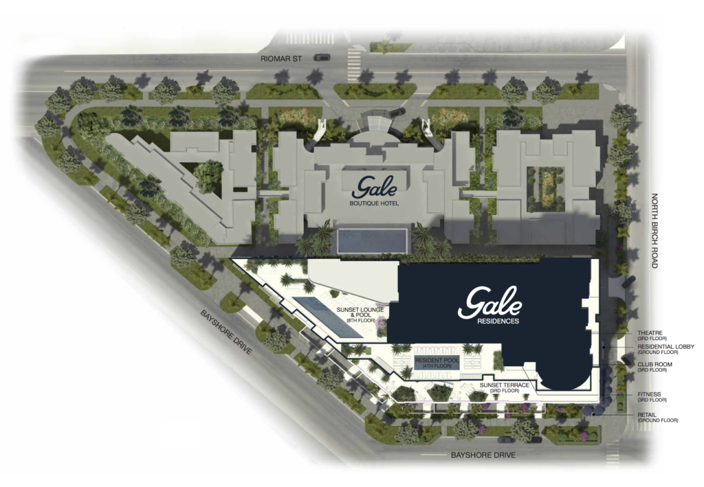 Gale Fort Lauderdale Site Plan