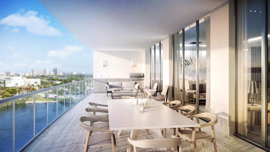 Riva Fort Lauderdale South Terrace View