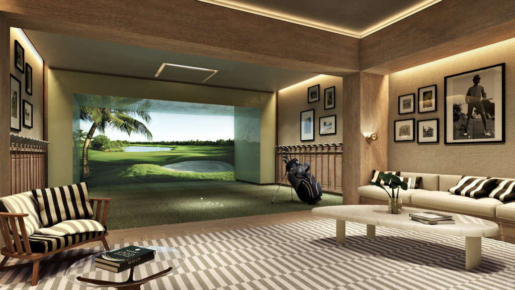 Auberge Beach Residences Fort Lauderdale Golf Simulator