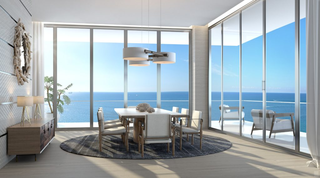 Auberge Beach Residences Fort Lauderdale North Penthouse Dining Room