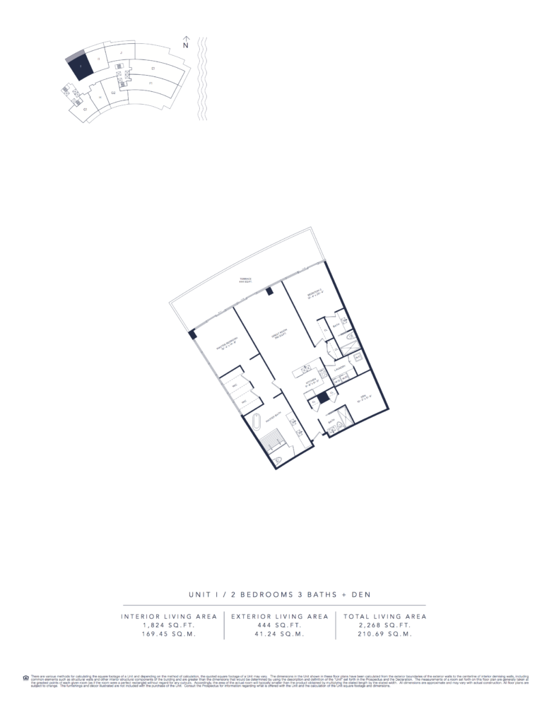 Auberge Beach Residences Fort Lauderdale North Tower Floorplan Unit I