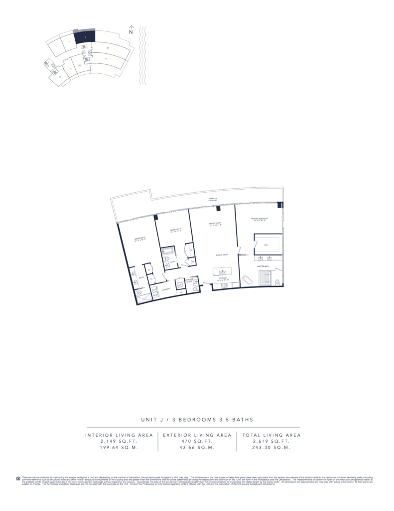 Auberge Beach Residences Fort Lauderdale North Tower Floorplan Unit J