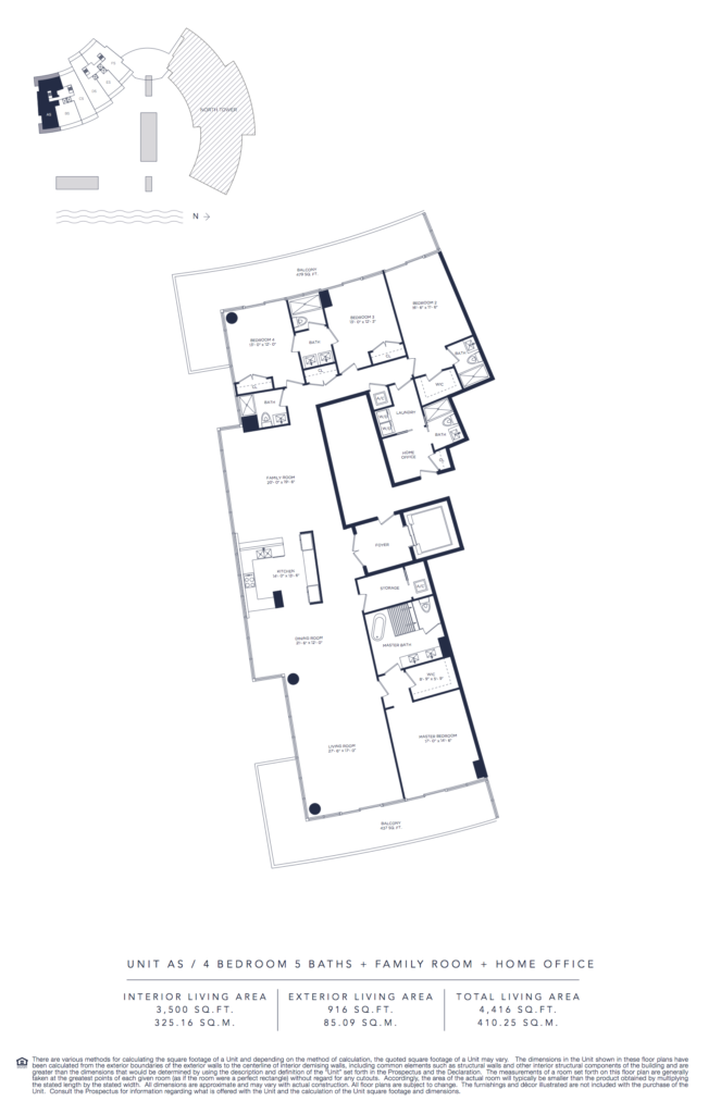 Auberge Beach Residences Fort Lauderdale South Tower Floorplan Unit AS