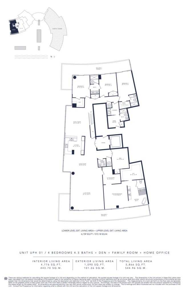 Auberge Beach Residences Fort Lauderdale South Tower Floorplan Unit UPH 1