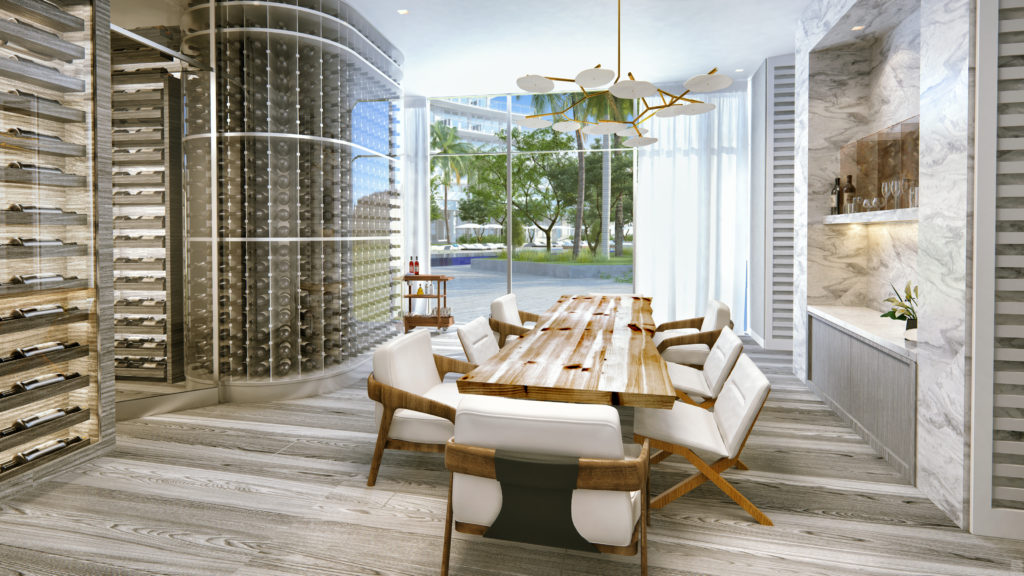 Auberge Beach Residences Fort Lauderdale Wine Cellar