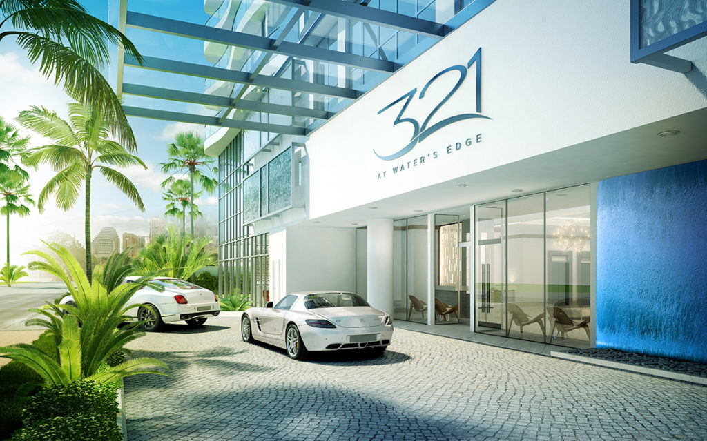 321 at Water's Edge Fort Lauderdale Drop Off Area