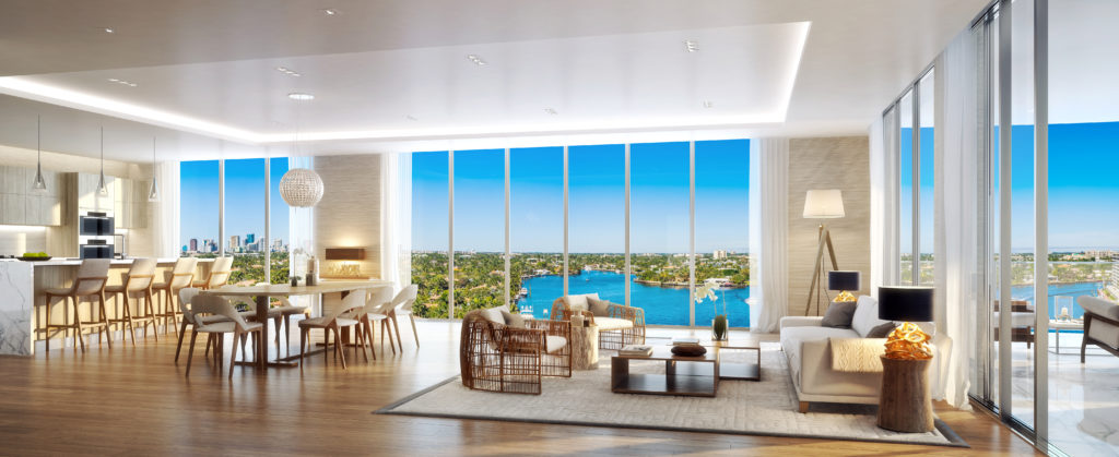 321 at Water's Edge Fort Lauderdale Living Room