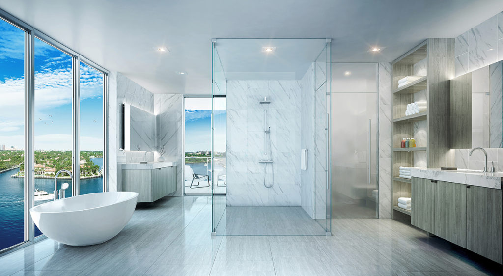 321 at Water's Edge Fort Lauderdale Master Bathroom