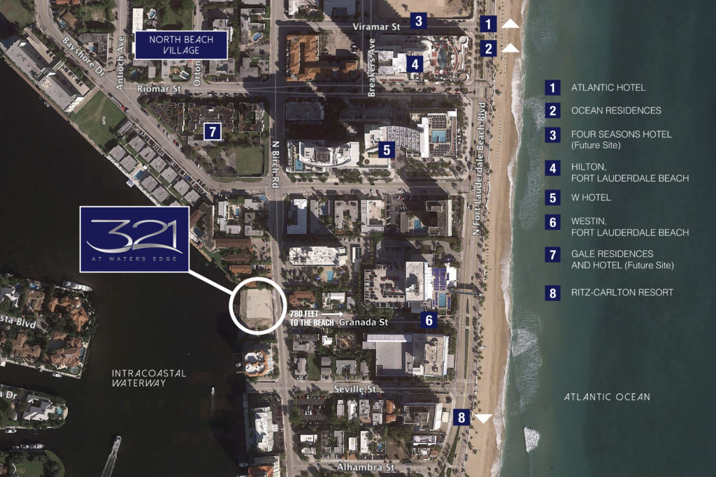 321 at Water's Edge Fort Lauderdale Proximity Map