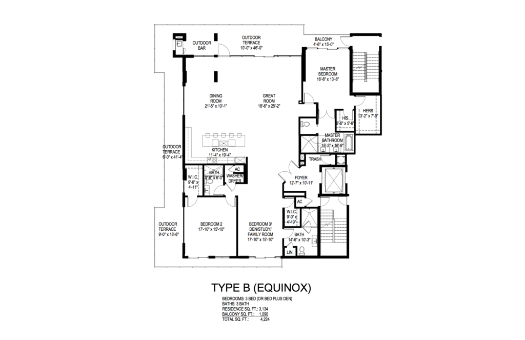 AquaLuna Fort Lauderdale Equinox Floorplan