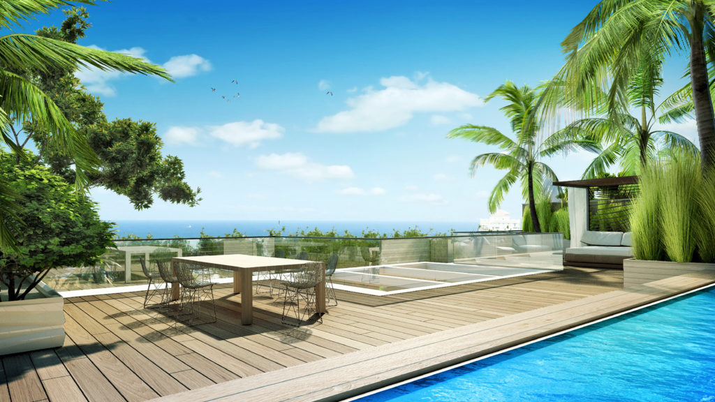 AquaLuna Fort Lauderdale Roof Terrace View 1