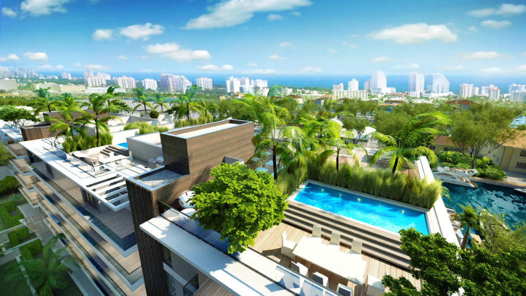 AquaLuna Fort Lauderdale Roof Terrace View 5