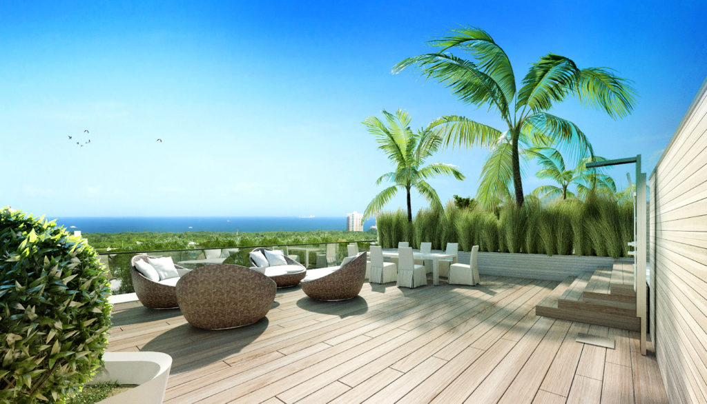 AquaLuna Fort Lauderdale Roof Terrace View 6