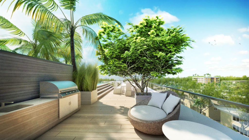 AquaLuna Fort Lauderdale Roof Terrace View 7