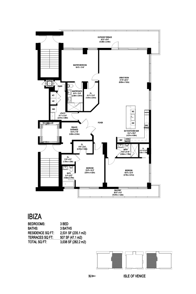 AquaMar Fort Lauderdale Ibiza Floor Plan
