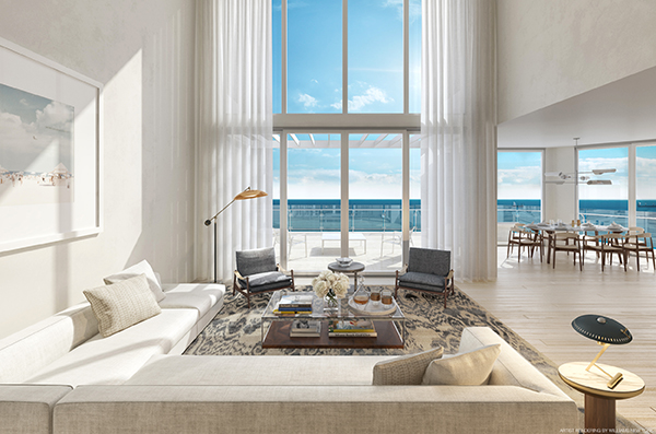 Four Seasons Fort Lauderdale Duplex Living Room