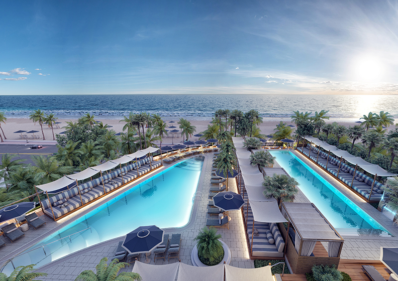 Four Seasons Fort Lauderdale Elevated Pool Deck