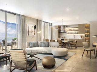 Four Seasons Fort Lauderdale Living Room and Kitchen