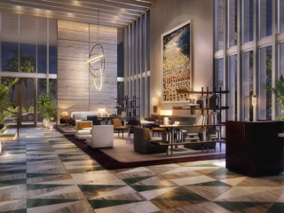 Four Seasons Fort Lauderdale Lobby at Night