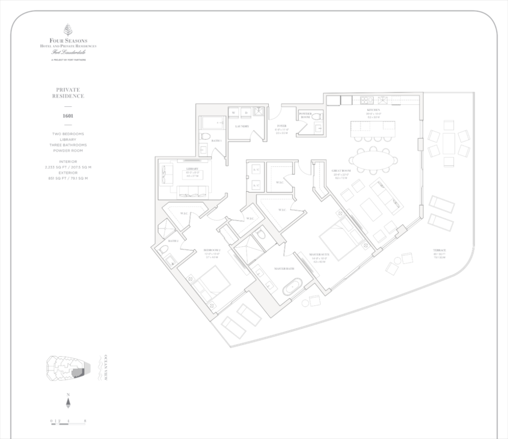 Four Seasons Fort Lauderdale Private Residences 1601 Floor Plan