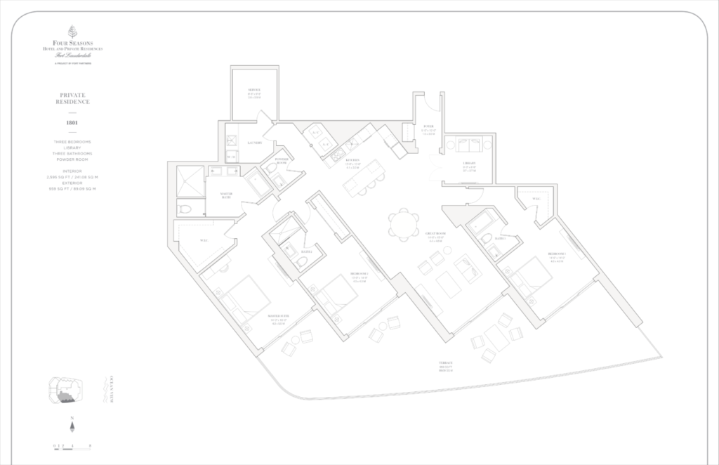 Four Seasons Fort Lauderdale Private Residences 1801 Floor Plan