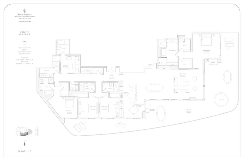 Four Seasons Fort Lauderdale Private Residences 1901 Floor Plan