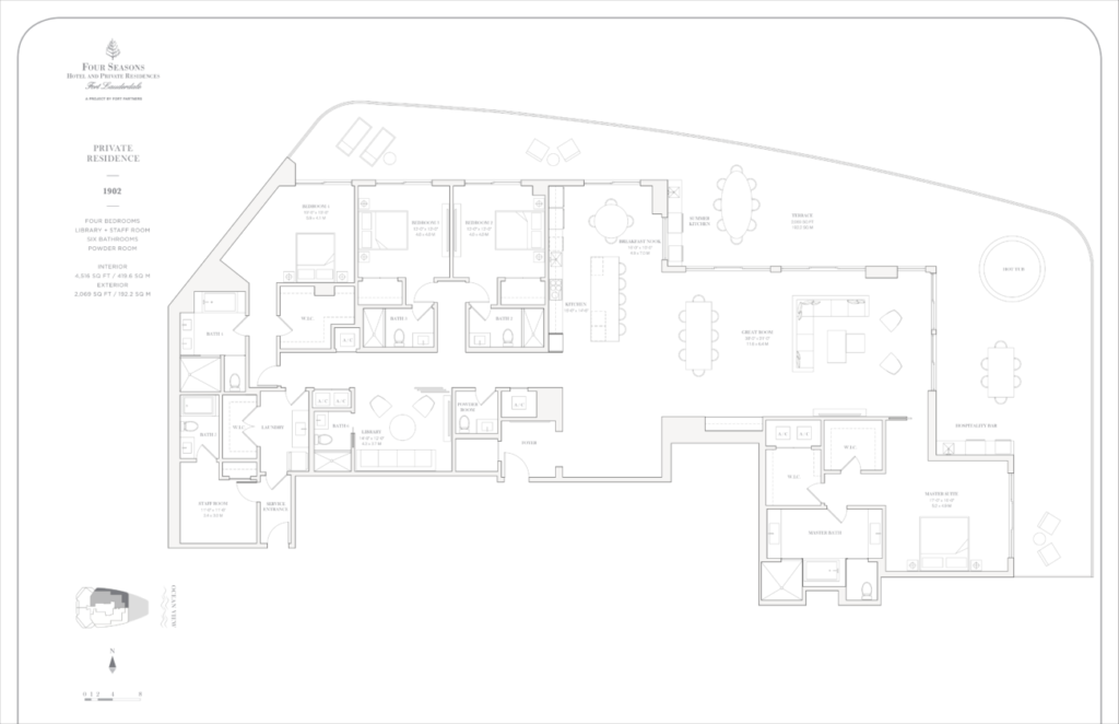 Four Seasons Fort Lauderdale Private Residences 1902 Floor Plan