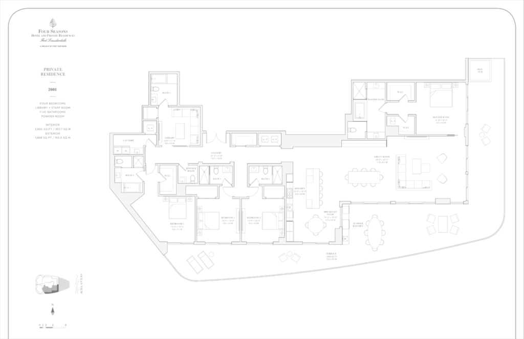 Four Seasons Fort Lauderdale Private Residences 2001 Floor Plan