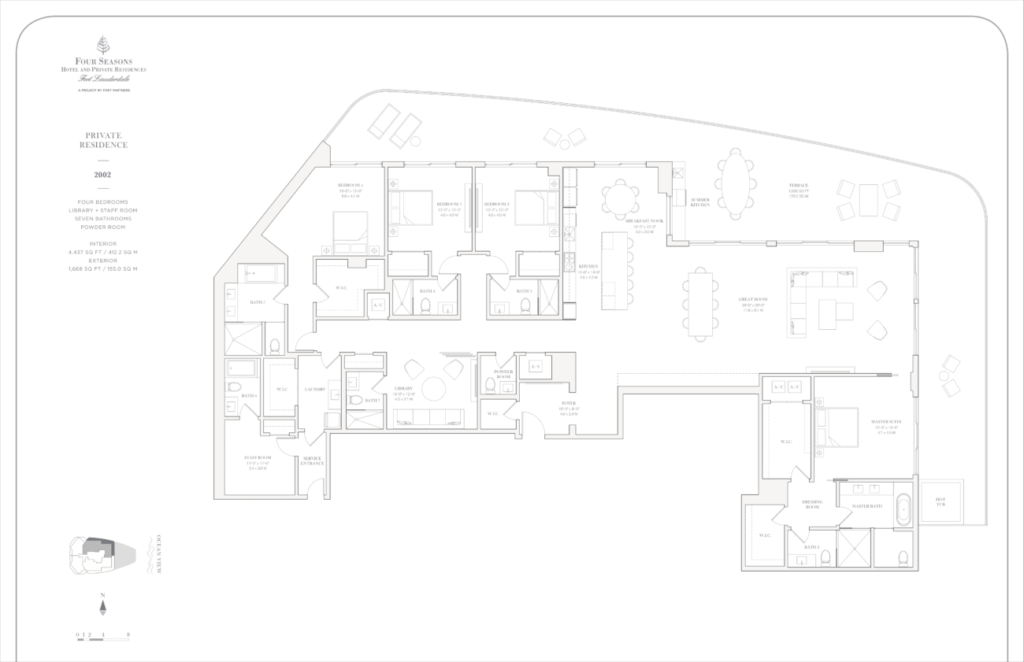 Four Seasons Fort Lauderdale Private Residences 2002 Floor Plan