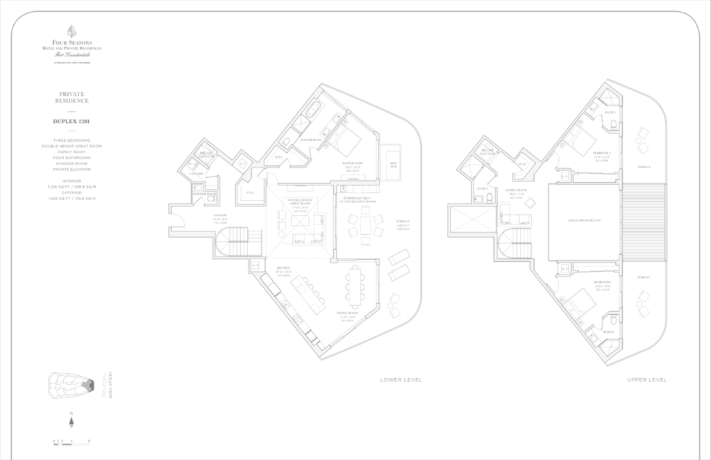 Four Seasons Fort Lauderdale Private Residences Duplex 1201 Floor Plan