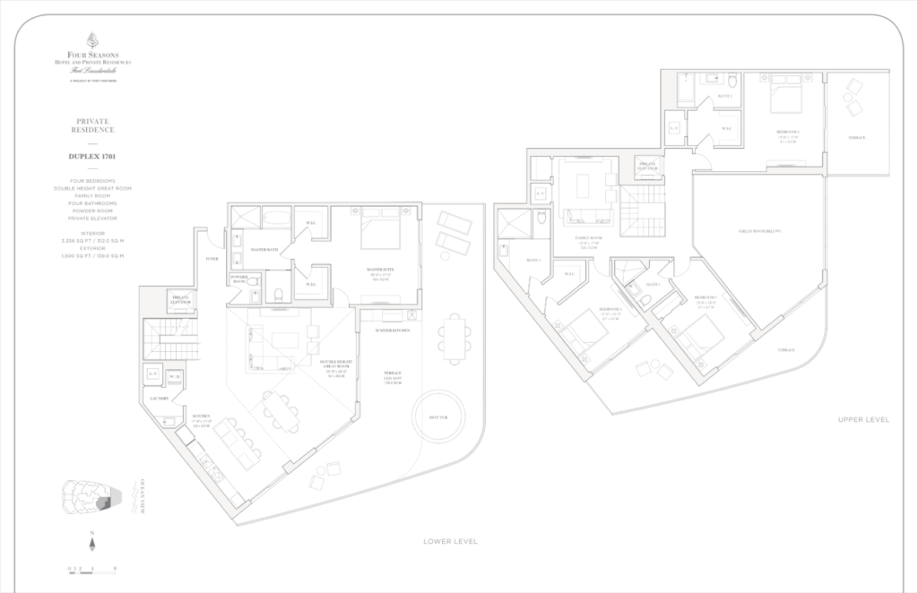 Four Seasons Fort Lauderdale Private Residences Duplex 1701 Floor Plan